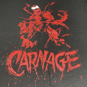 Spiderman Carnage Comic Book Tee Large